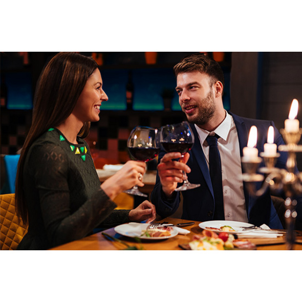 Schlossübernachtung mit Candle-Light-Dinner in Romrod für 2
