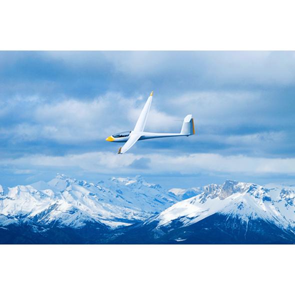 Segelfliegen mit Alpenpanorama