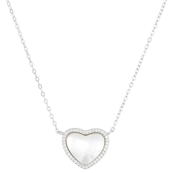 Kette mit Anhänger - Pearly Heart