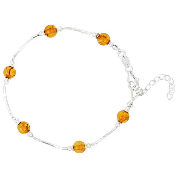 Armband - Round Amber