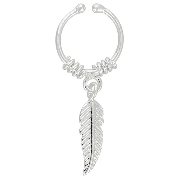 Earcuff - Silver Feather