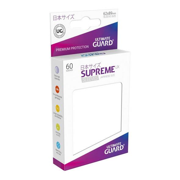 Ultimate Guard Supreme UX Sleeves Japanische Größe  Weiß