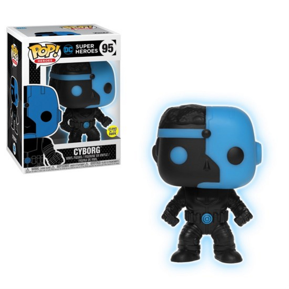 DC Justice League - POP!-Vinyl Figur Cyborg (Glow in the Dark)
