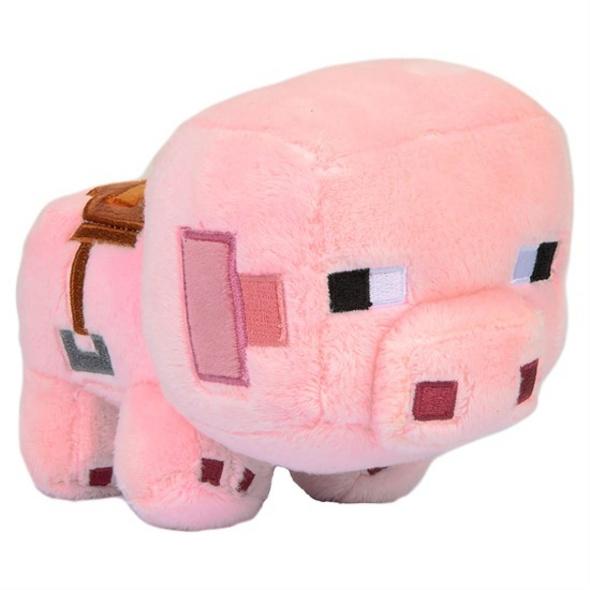 Minecraft - Plüschfigur gesatteltes Schwein