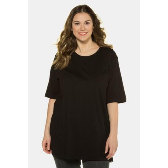 Ulla Popken Basic-T-Shirt, Rundhalsausschnitt, Relaxed, Baumwolle - Große Größen