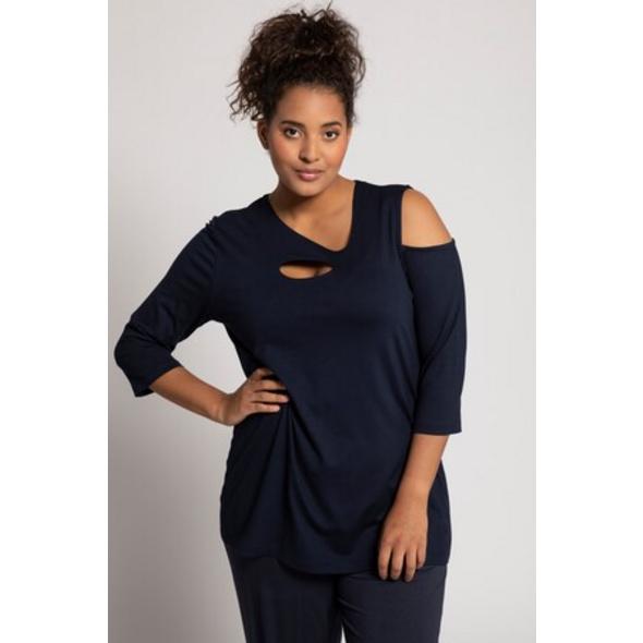 Ulla Popken Yogashirt, asymmetrische Ausschnitte, Oversized - Große Größen