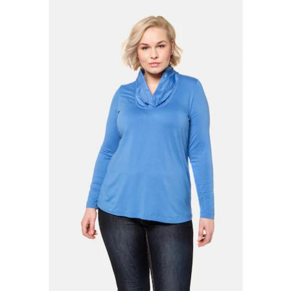 Ulla Popken Shirt, Taftkragen, Classic, Langarm - Große Größen