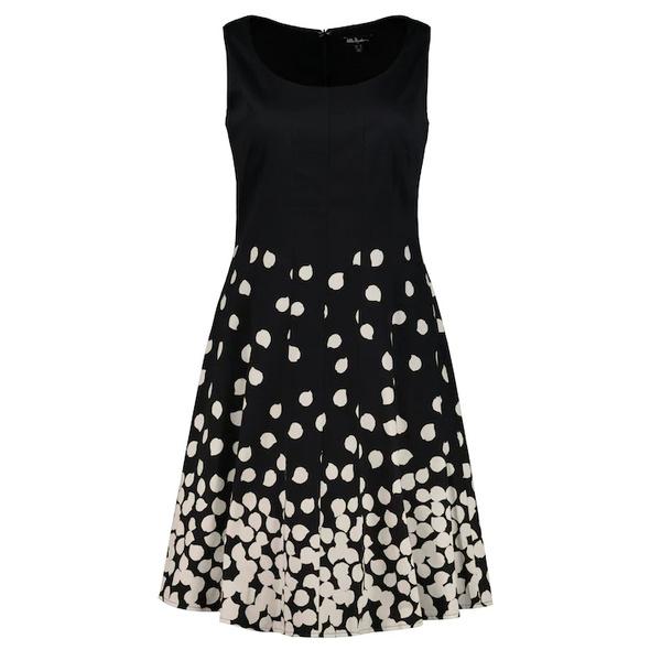 Kleid, Punkte, ärmellos, Jersey-Unterkleid
