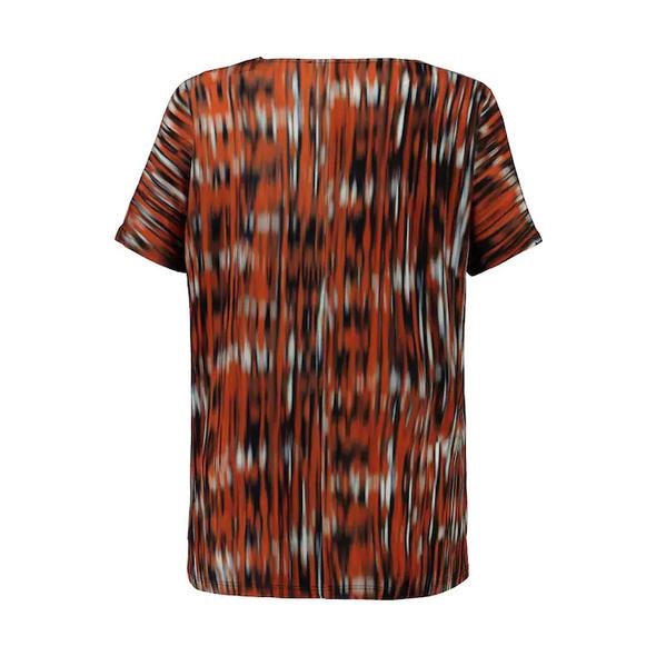 Slinkyshirt, Streifen-Design, oversized, Halbarm, selection