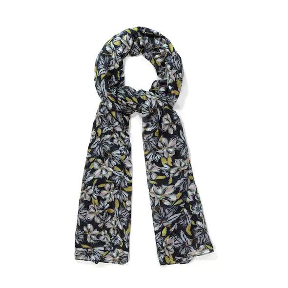 Schal, Blütenmuster, lange Form, Viskose