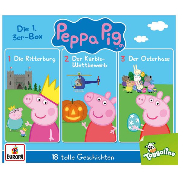 Peppa Pig Hörspiel - 3er Box 01  Folgen 1 , 2, 3