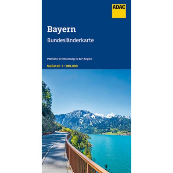 ADAC BundesländerKarte Deutschland Blatt 12 Bayern
