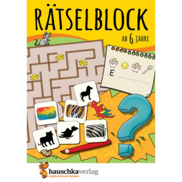 Rätselblock ab 6 Jahre, Band 1, A5-Block
