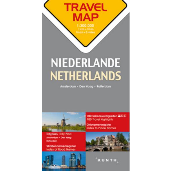 Reisekarte Niederlande 1:300.000