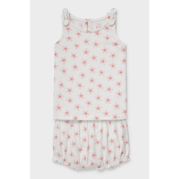 Baby-Outfit - Bio-Baumwolle - 2 teilig - geblümt