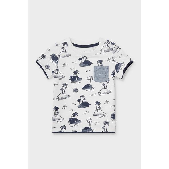 Baby-Kurzarmshirt - 2-in-1-Look - Bio-Baumwolle