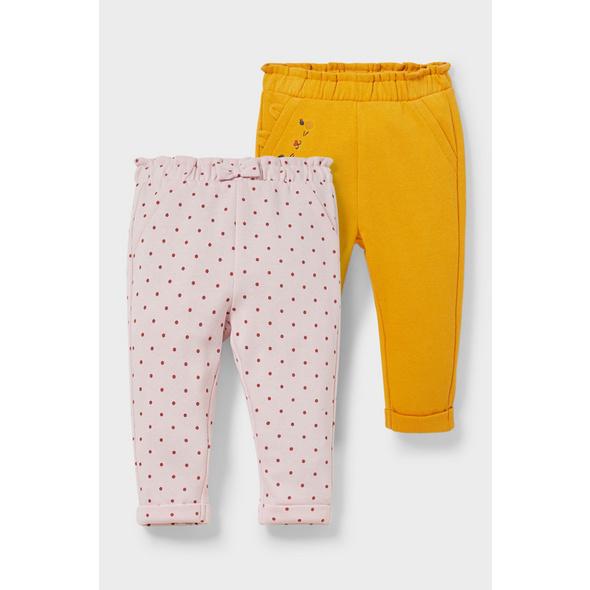 Multipack 2er - Baby-Jogginghose - Bio-Baumwolle