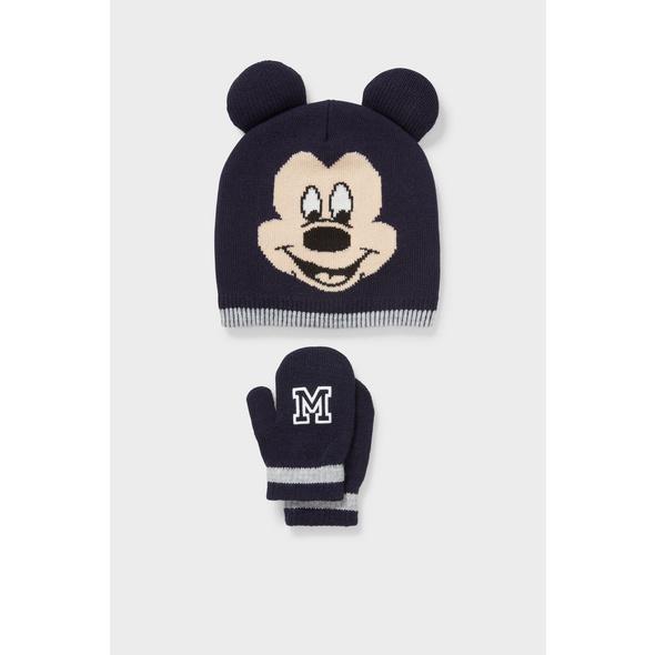 Micky Maus - Baby-Mütze und Baby-Fäustlinge - 2 teilig