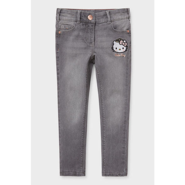 Hello Kitty - Regular Jeans - Thermojeans - Glanz-Effekt