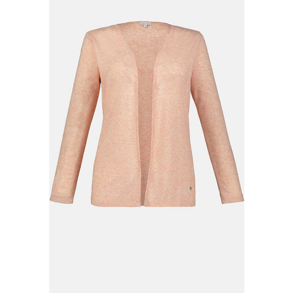 Shirtjacke, Strukturstreifen, offene Form