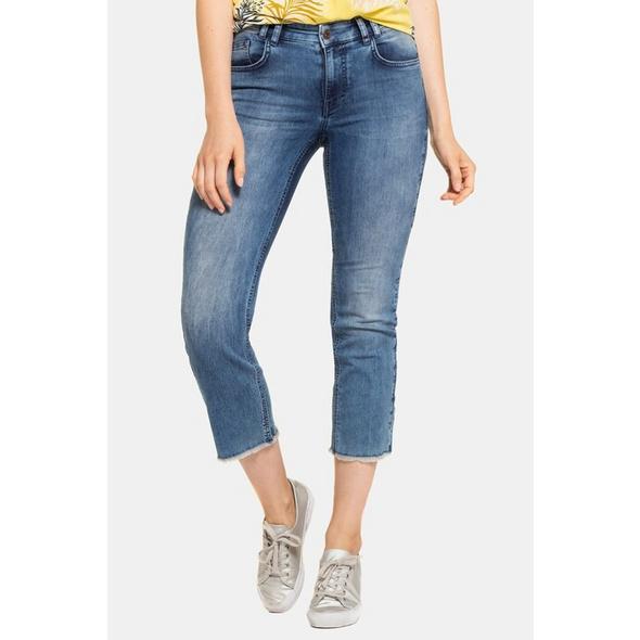 Gina Laura 7/8-Jeans Julia, ausgestellter Saum, knöchellang