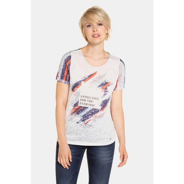 Shirt, Streifen-Design, Rundhalsausschnitt
