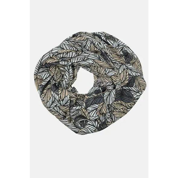 Gina Laura Loop, grafisches Blättermuster, luftig-leicht