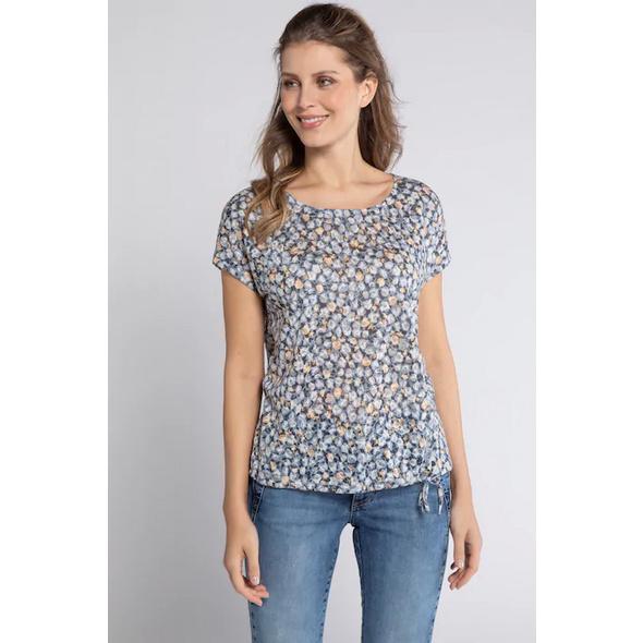 Gina Laura T-Shirt, Blütenmuster, Oversized, Saumband