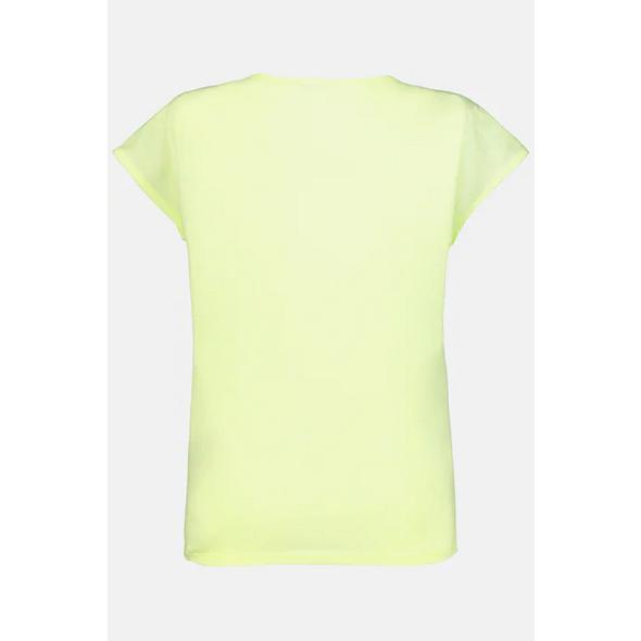 T-Shirt, Lochstickerei, Gummisaum, Oversized