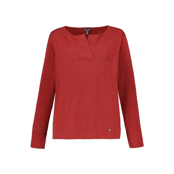 Pullover, V-Ausschnitt, weicher Feinstrick