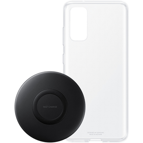 SAMSUNG SET CLEAR COVER+CHARGER S20