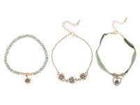 Armband-Set - Green Edelweiss