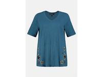 T-Shirt, Sternen-Stickerei, Classic, Flammjersey