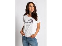 Shirt, Schriftaufdruck, Weiche Baumwollmischung