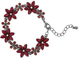 Armband - Ruby Flowers