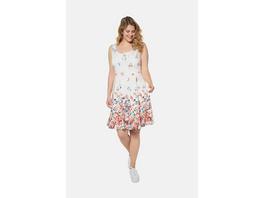 Kleid, Blütenmuster, ärmellos, Jersey-Unterkleid