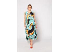 Kleid, grafisches Muster, A-Linie, Viskose