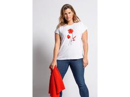 T-Shirt, 3D-Chiffonblüte, Oversized, Viskose
