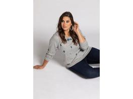 Sweatshirt, Blüten-Stickereien, Langarm