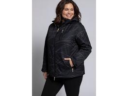 Ulla Popken Winterjacke, Linienmuster, wasserdicht, 2-Wege-Zipper - Große Größen