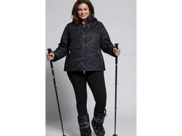 Skijacke, Linienmuster, wasserdicht, 2-Wege-Zipper