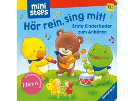 ministeps: Hör rein, sing mit! Erste Kinderlieder