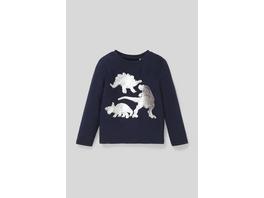Dino - Langarmshirt - Bio-Baumwolle - Glanz-Effekt