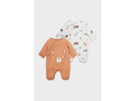Multipack 2er - Baby-Schlafanzug - Bio-Baumwolle