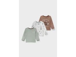 Multipack 3er - Baby-Langarmshirt