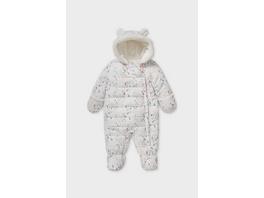 Baby-Schneeanzug mit Kapuze - recycelt