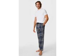 Pyjamahose - kariert