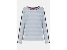 Gina Laura Sweatshirt, gepunktete Jacquard-Streifen, Zierbänder