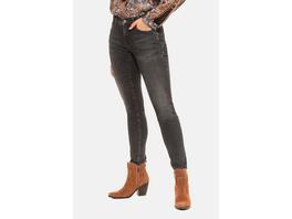 Gina Laura Jeans Julia, Glitzersteinchen, schmale 5-Pocket-Form