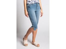 Gina Laura Capri-Jeans Julia, Galonstreifen, schmale 5-Pocket-Form